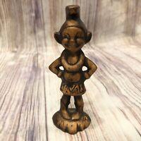 Vtg Treasure Craft Menehune souvenir good luck figure Hawaii tiki Statue 1960 70