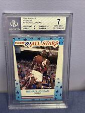 1989-90 Fleer Sticker Michael Jordan #3 BGS 7 With Subgrades Chicago Bulls