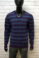 Maglione a Righe Uomo GAS Taglia XXL Pullover Felpa Lana Cardigan Sweater Man