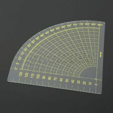 Plate Triangle Clothing Design Quilt Ruler Plastic 1PC Patchwork Cutting Ruler