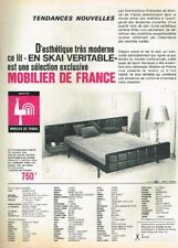 E- Publicité Advertising 1964 Meubles Mobilier De France lit