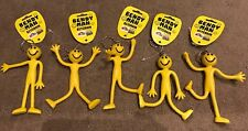Bulk Lot 5 - Bendy Man Keyring - Party Novelty 14cm Tall - BNWT