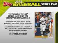 2020 Topps Series 2 Baseball HTA JUMBO BOX + 2 SILVER PACKS Presale 6/26/20