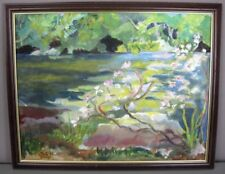 "IBITZ 1999__Orig Oil on Canvas__Landscape__Framed__16"" x 19.75""__FREE SHIPPING"