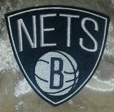 "Brooklyn Nets ""B"" NBA 3.5"" Iron On Embroidered Patch~USA~FREE Ship"
