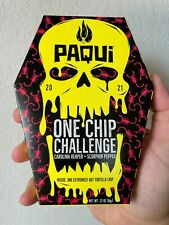 Paqui One Chip Challenge NEW 2021 Carolina Reaper Scorpion Chile Pepper Tortilla