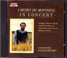 Barber Adagio for strings Bartok divertimento Stravinsky Prevost CD Turovsky