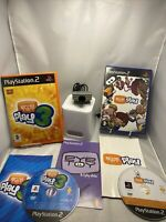 Ps2 Playstation 2 Eye Toy  Camera And X2 Fun Games Bundle Great Gift Free P&p