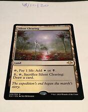 Magic the Gathering MTG Silent Clearing x1 Rare Card NM/M Modern Horizons