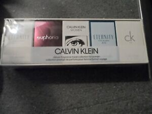 CALVIN KLEIN MINI WOMENS PERFUME GIFT SET 5 x MINATURE 5 ML FRAGRANCES BRAND NEW