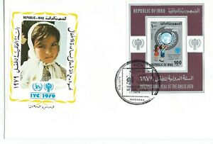 Iraq Int'l Year of the Child 100fil Mini Sheet Illustrated First Day Cover 1979