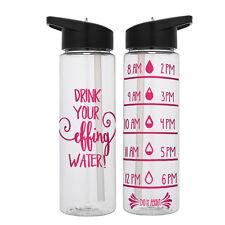 Water Tracker – Drink Your Effing Water Sports Water Bottle 24 Oz