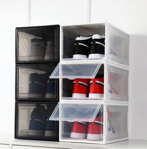 Extra Large Sneaker Display Cases Shoe Box Black Transparent Storage Show Case