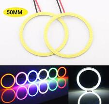 2 Pcs White 50MM Angel Eyes LED COB Chip SMD Car Headlight Halo Ring Light