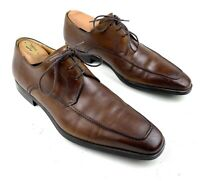 Magnanni Pardo Mens 10.5 M Brown Leather Apron Toe Derby 13723 Made in Spain