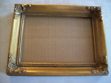 """Vintage Wood Gold 6.5X.8.5"""" Ornate Corners Baroque Picture Frame For 5X7 #2"""