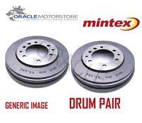 2 x NEW MINTEX REAR BRAKE DRUM PAIR BRAKING DRUMS GENUINE OE QUALITY MBD011