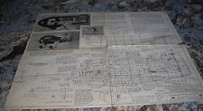 Vintage Model Airplane Full Size Plans Gee-Bee Super Sportster