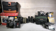 Camera/ Binocular Lot ( Olympus/Olympia/Cannon/Simmons/Tasco/Sharper Image)