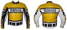Moto Chaqueta De Cuero Hombre Amarillo Yamaha Racing moto chaquetas de cuero