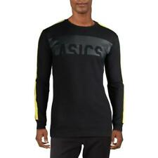 Asics Mens Black Fitness Workout Training Pullover Top Athletic M Bhfo 7129
