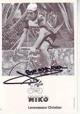 CYCLISME carte cycliste LEVAVASSEUR CHRISTIAN équipe MIKO MERCIER 1979 signée