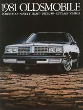 1981 Oldsmobile Toronado Ninety-Eight  Delta 88 Cutlass Omega Sales Brochure