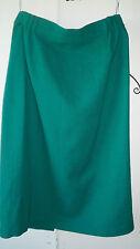 ANTHEA CRAWFORD~ Vintage Green Wool Skirt Ladies Size 14