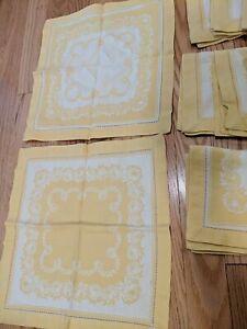 """10 Antique Vintage Cloth Napkins 12.75"""" X 12"""""""