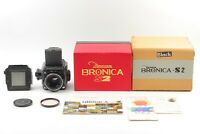 【RARE!! ALMOST UNUSED BOXED】 Zenza Bronica S2A Black Final Late Model From JAPAN