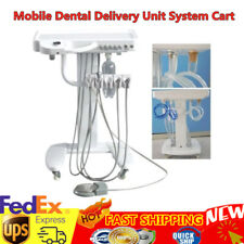 Portable Dental Delivery Mobile Cart Unit Equipment weak suction 4 Holes USA