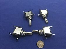 4 Pieces  12V White LED Car  Carbon Fiber SPST Toggle Switch Control On/Off c13