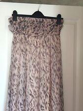 Awear Strapless Ladies Pink Animal Print Shimmer Maxi Dress. Size 12