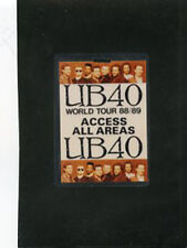 UB40-World Tour 88/89  - laminate all access pass