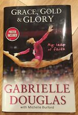 Gabrielle Douglas signed Grace, Gold & Glory hardcover book Olympic gymnast
