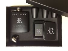Groomsmen Gift Set of 6 box Gifts Engraved Lighter Mens Personalized Best man
