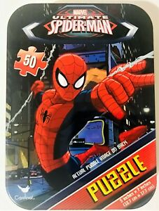 Marvel Ultimate Spider Man 50 Pc Mini Tin Jigsaw Puzzle 5x7 NEW
