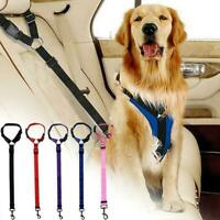 1/2 pcs Dog Cat Car Safety Seat Belt Restraint Harness Leash New Travel H3S9
