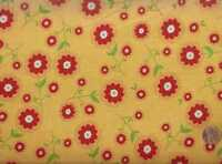 Delighted! yellow red floral flowers Riley Blake fabric