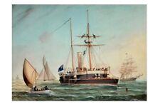 HMCS PROTECTOR  South Australia 1884 G F Gregory Art modern digital Postcard