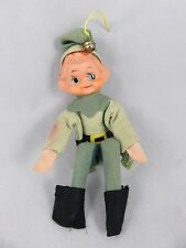 Vintage Pixie Elf Doll - Knee Hugger - Christmas Ornament - Japan