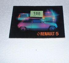 RENAULT 5 OWNERS HANDBOOK. 1977.