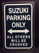 Suzuki Parking métal signe/vintage garage Wall Decor (30 x 40 cm)