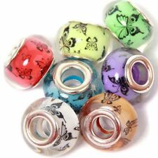 Fashion mixed Dog Foot Resin Silver Core Beads Fit European Charm DIY Bracelet