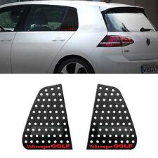 C Pillar Window Glass Sports Plate Molding Red Logo For VW 2013-2016 Golf 7th