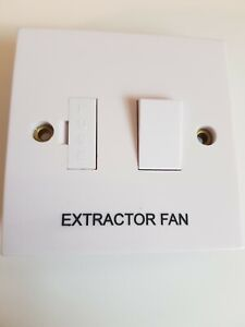 13A Switched Fused Connection Unit marked Extractor Fan