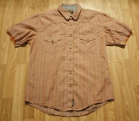 Wrangler Retro Premium Western Mens Large Shirt Pearl Snap Short Sleeve L