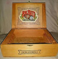 CIGAR BOX WOODEN BIG BUTT CIGAR DON GORDO Hand Made in Nicaragua Rare Vintage