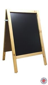 WOODEN A BOARD -CHALKBOARD -PAVEMENT SIGN - QUALITY- 100cm x 60cm - WEIGHT 10 KG