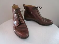 Vintage Bragano Cole Haan Made In Italy Size 11 Lace Up Brown Ankle Boots